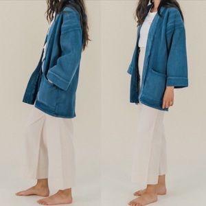 Levi's Made Indigo Denim Kimono Jacket Sz 1 S